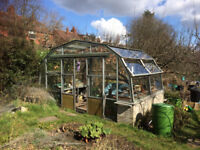 Greenhouse, 16ft x 10ft x 9ft high with double sliding doors