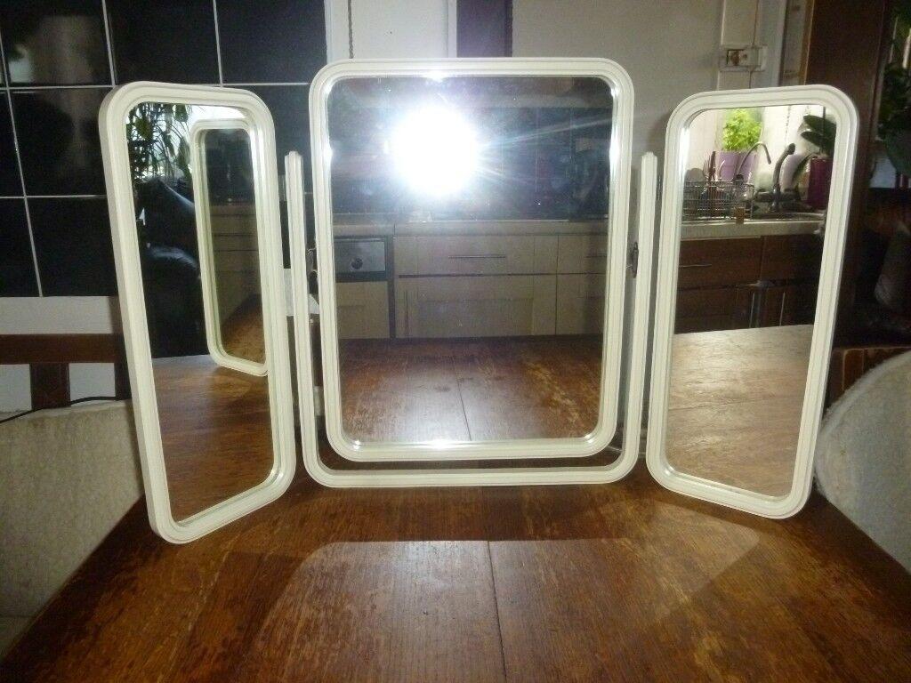 Vintage Dressing Table Triple Mirror Bedroom Make Up