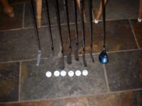 Mizuno 3 wood with Mizuno irons, a putter and 6 Titleist balls