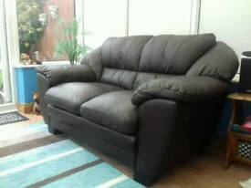 Leather sofa, Brown 2 seater