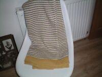 Throw - Ikea Ormhassel - Grey and Yellow