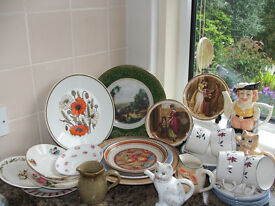 3 job lots of collectable plates, glas and kitchen wares £13 each pic or £30 for the lot