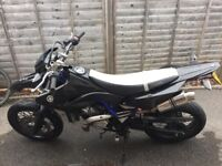 Here i have my yamaha wr125cc, most reliable bike ive ever riden , loud exhaust so car can hear you.