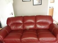 free sofa and chair dark red