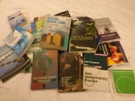 Job lot of social work books