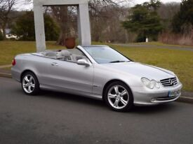 Mercedes 320 CLK convertible 2004 Auto ONLY 80.000 miles