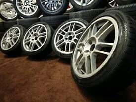"Twin spoke 17"" 4x108 alloy wheels + tyres ford peugeot citreon Audi"