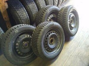 NISSAN SENTRA WINTER TIRES AND RIMS *** COMPLETE SET *** 4 BOLT ** 205/60R/16 *** STOCK# T24