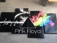 Pink floyd canvas (4 sepereate pics to give you the dark side of the moon)