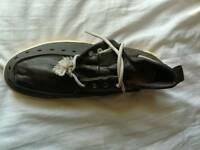 Men leather trainers