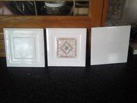 White Plain & Patterned Wall tiles