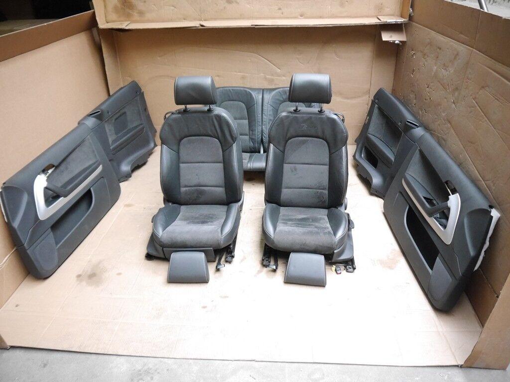Original Audi A3 8P Cabrio S-Line Innenausstattung Sitze Leder ...
