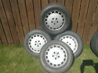Mercedes alloy wheels with good tyres