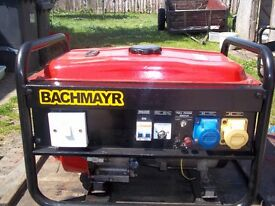 BACHMAYR 2.5KW 6.5HP 4 STROKE PETROL GENERATOR,WITH LOW OIL AUTOMATIC SHUTDOWN
