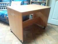 Free simple slide in/out desk