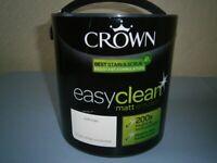 CROWN EASYCLEAN EMULSION PAINT 2.5 litres - NEW - cream colour