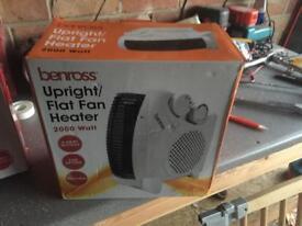 Benross upright flat fan heater
