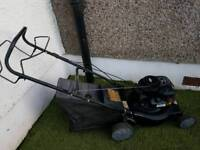 """16"""" self proppeled petrol lawnmower with grass box"""