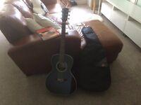 Acoustic Guitar in Black (Blue Moon)