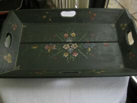 a VINTAGE ITEM. A hugely useful large wooden tray