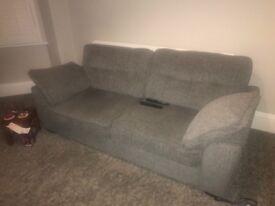 Beautiful grey 3 seater sofa