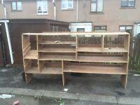 Ford Transit Lwb plywood shelves and storage unit vivaro traffic hiace Iveco