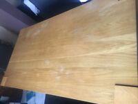 Wooden oak dining table - Debenhams