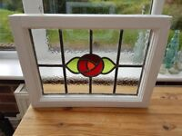 Vintage Stained Glass Hanging Window