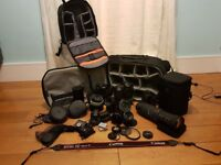 JOBLOT OR CAN SPLIT INTO INDIVIDUAL ITEMS Canon 5D MK iii & Canon 500d inc lenses/Bags/accessories