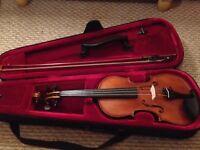 Gliga Genial 4/4 Violin with Everest Shoulder Rest.