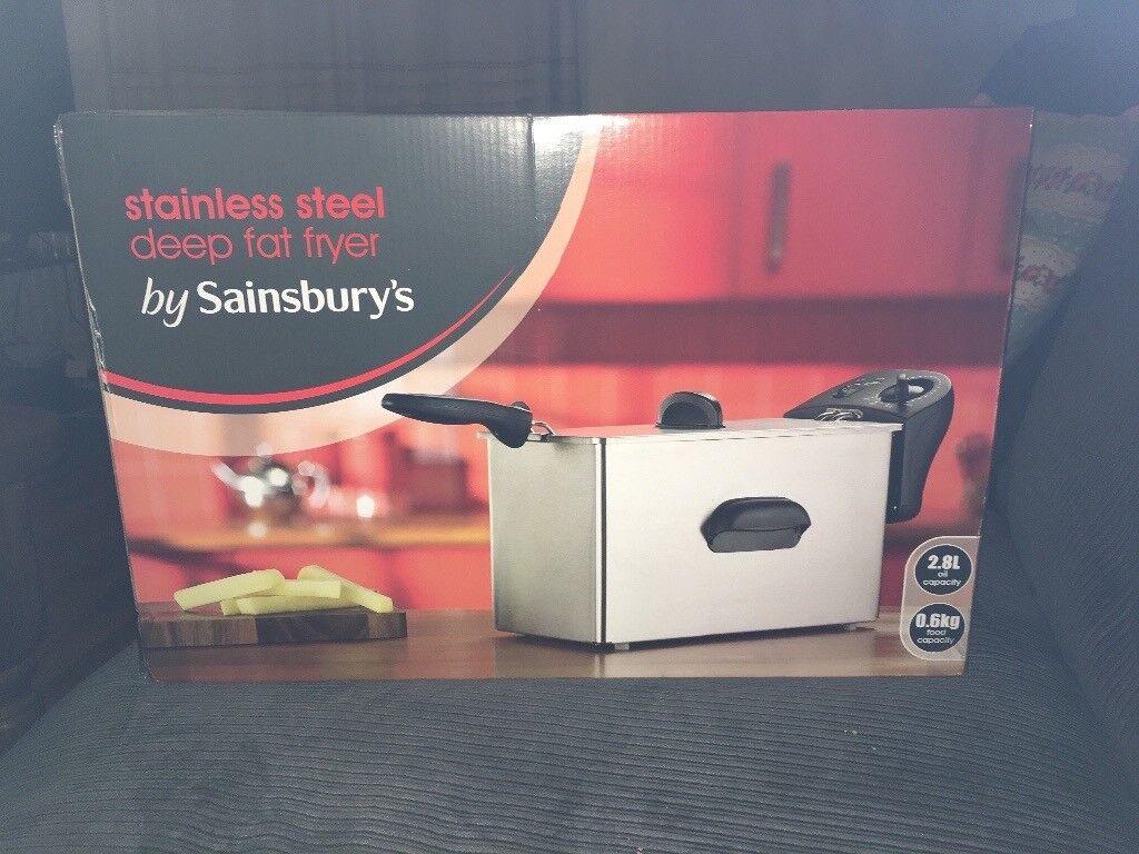 Sainsbury's stainless steel deep fat fryer *brand new*