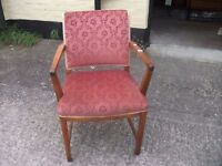 Fabric Covered Dining Chair With Arms Delivery Available