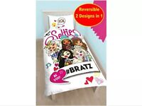 BRATZ 'HASHTAG' SINGLE DUVET COVER SET NEW 2 in 1 Brand new in sealed bag
