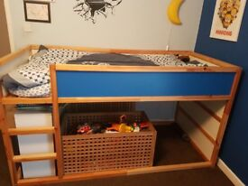 Single Cabin Bed with Blue Star Tent. Excellent condition. 2 to sell.