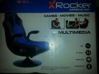 X Rocker Adrenalin Chair - Interactive Audio Seat - Gaming Chair