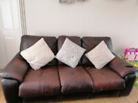 Leather Recliner sofa 3 seater and 2 seater