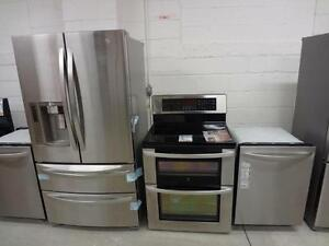 STAINLESS STEEL FRIDGES & STOVES END OF SUMMER BLOW OUT SALE STAINLESS STEEL WITH 1 YEAR WARRANTY