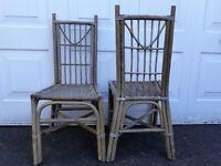 2 Garden Wicker Chairs