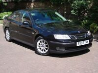 EXCELLENT SPEC!! BLACK 2007 SAAB 9-3 1.8T LINEAR SPORT 4dr, 1 YEAR MOT, HALF LEATHER, FSH, WARRANTY