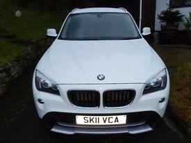 BMW X1 X-DRIVE 18d 2.0 DIESEL SE - WHITE - LOW MILEAGE - BMW SERVICE HISTORY - LEATHER INTERIOR