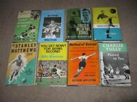 Vintage Football Books x 8 (mainly first editions)