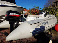 SOLD.... BRIG XM300 Rib – Mercury Outboard package with trailer for Sale. £1850 ono.