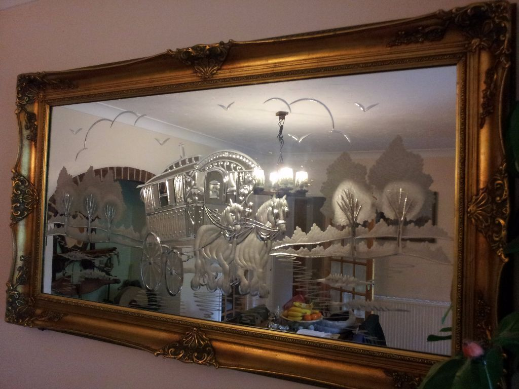 Large Decorative Framed Gypsy Caravan Mirror