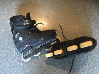 KOBE SLEDGE aggressive inline skates roller blades size 7. SUPERB CONDITION. BARGAIN PRICE