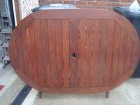 patio table (solid teak wood)
