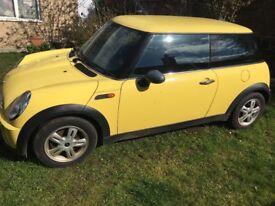 Mini one yellow