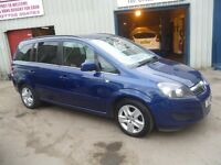 Vauxhall ZAFIRA Exclusiv CDTI Ecoflex,7 seat MPV,1 previous owner,2 keys,FSH,low mileage,only 38,000