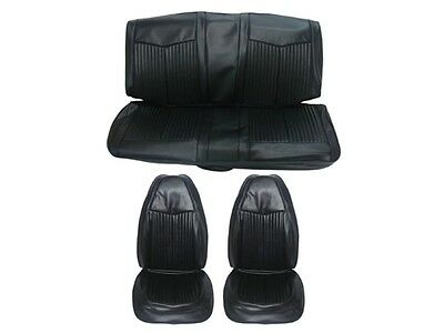 pg classic 6612 buk 100 1970 duster front bucket seat cover set black for sale. Black Bedroom Furniture Sets. Home Design Ideas