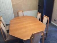 Extending dining table & six chairs - REVISED PRICE