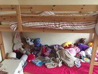 Ikea Bunkbeas very good condition hardly slept in